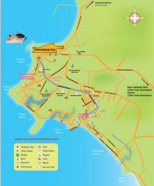 Mapa Sihanouk-ville