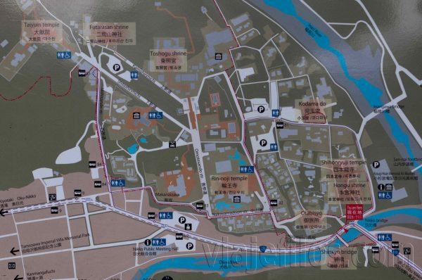 Mapa de Nikko