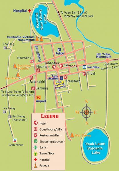 Mapa de la región de Ratanakiri