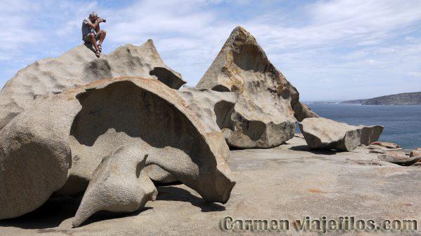 Rocas de Remarkable Rocks en la isla Canguro de Australia