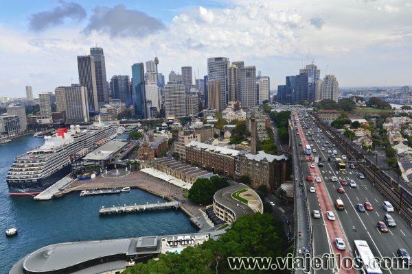 Desde lo alto del puente de Sydney