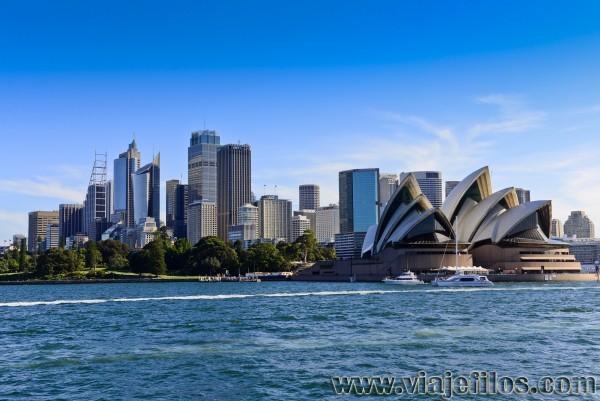 Vistas desde el ferry en la bahía de Sydney