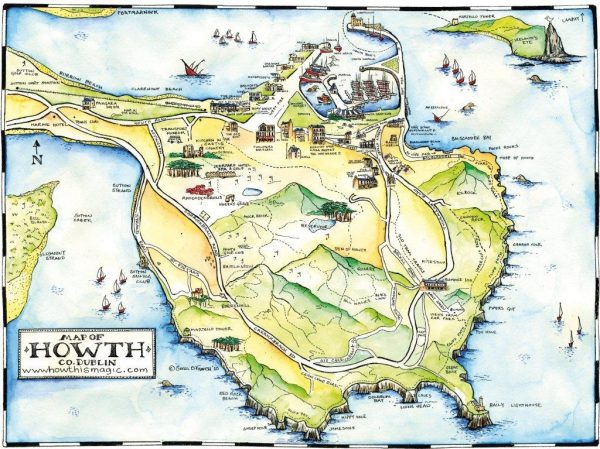 Mapa de Howth, Irlanda