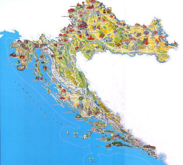 mapa turismo croacia